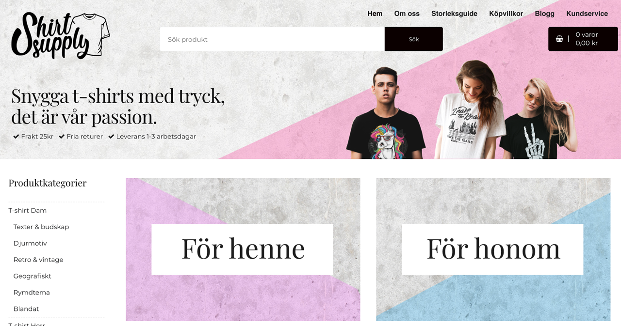 snygga t-shirts online